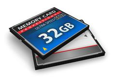High speed CompactFlash memory cards - stock illustration