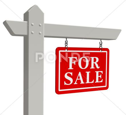 "Stock Illustration of ""For sale"" real estate sign"