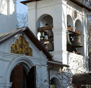 Belltower cloister. Stock Photos