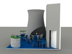 Stock Illustration of exhibition stand interior-exterior samples series