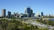 View Of Perth City, Australia, From King's Park Stock Footage