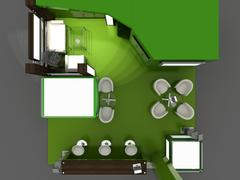 Stock Illustration of exhibition stand interior sample - interiors series  . 3d