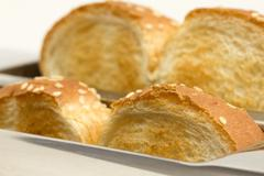 bread toaster closeup - stock photo