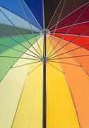 colorful umbrella closeup - stock photo