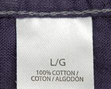 fabric tag - stock photo