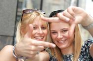 Stock Photo of happy friends girl