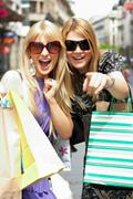 Stock Photo of happiness  shopping woman's