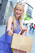 Beauty shopping girl  Stock Photos