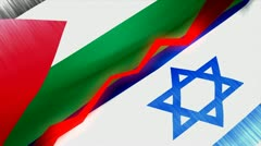Palestine Israel conflict concept animation. Stock Footage