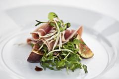 Delicious serrano as an appetizer Stock Photos