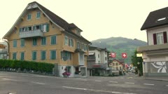 Quiet little town in Switzerland Stock Footage