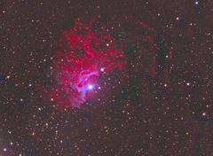 Flaming star nebula Stock Photos