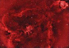 Stock Photo of ic1805 heart nebula