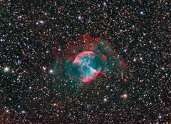 M27 dumbbell nebula Stock Photos