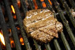 Hamburger Grilling Stock Photos