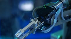 Robotic Arm with Gears - Slow Motion - stock footage