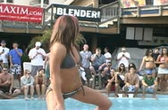 Spring Break Bikini Contest 3 from Panama City Beach, Florida Stock Footage
