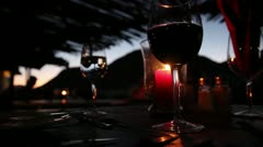 Candle light dinner Stock Footage