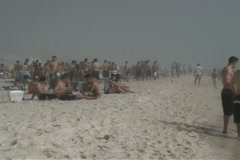 Spring Break Beach Party Scene - stock footage