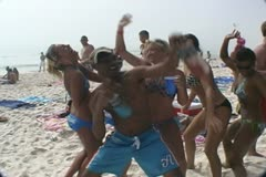 Spring Break Party from Panama City Beach, Florida - stock footage