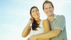 Happy Caucasian Couple Enjoying Time Together Stock Footage