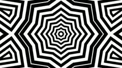 Black white starlish Stock Footage