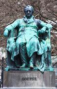 johann wolfgang von goethe statue - stock photo