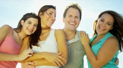 Stock Video Footage of Close Up Smiling Caucasian Family Outdoors