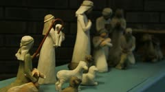 Christmas Manger Scene 3 Stock Footage