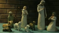 Christmas Manger Scene 6 Stock Footage