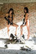 Two sexy women Stock Photos