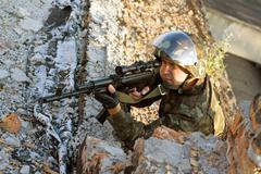 Sniper - stock photo