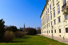 vienna hofburg palace - presidential tract, austria - stock photo