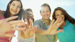 Advertisement Tourism Young Caucasian Family - stock footage