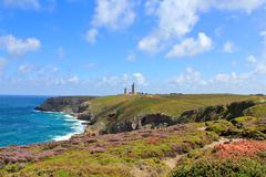 french atlantic coast near cap frehel - stock photo