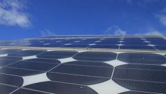 Solar Panel cells CU GFHD Stock Footage