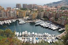 Boats in Monaco bay Stock Photos