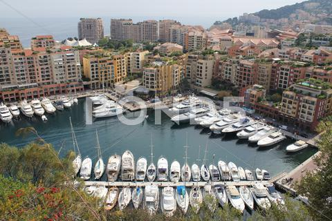 Stock photo of boats in Monaco bay
