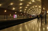 Stock Photo of Monaco ville train station