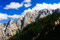 alpine mountain range, triglav national park, slovenia - stock photo