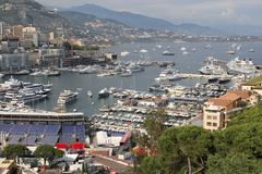 View on Monaco bay Stock Photos