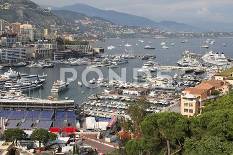 Stock photo of View on Monaco bay