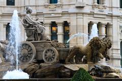 plaza de cibeles fountain, madrid, spain - stock photo