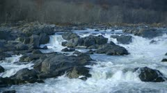 Wide shot of river rapids - stock footage