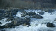Wide shot of river rapids Stock Footage