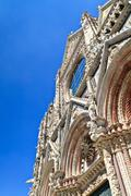 Facade of siena dome (duomo di siena), italy Stock Photos