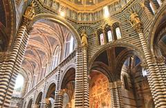 Stock Photo of siena, tuscany - interior of dome (duomo di siena)