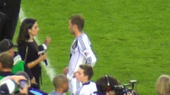Beckham after final game zoom out - HD Stock Footage