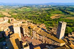 san gimignano - stock photo