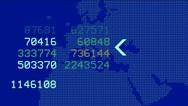 Global GPS & data detect schedule,earth map & military Radar GPS screen display Stock Footage